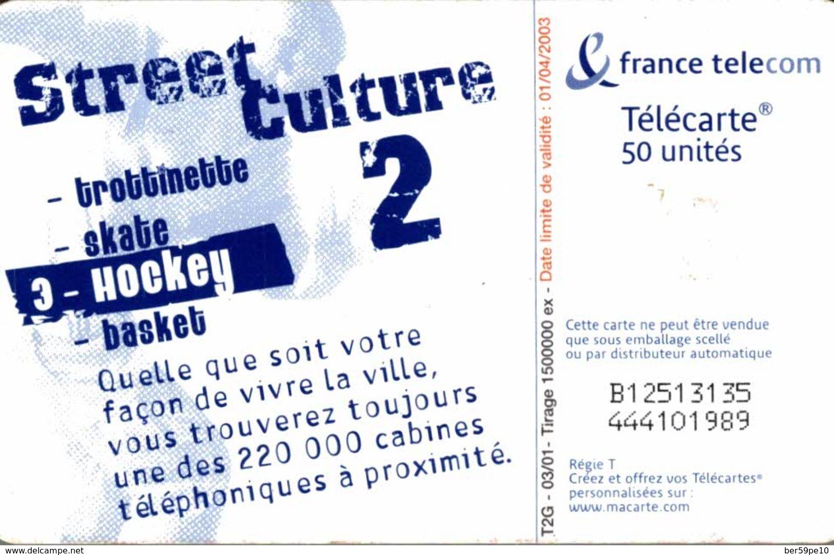 TELECARTE 50 UNITES HOCKEY - Teléfonos