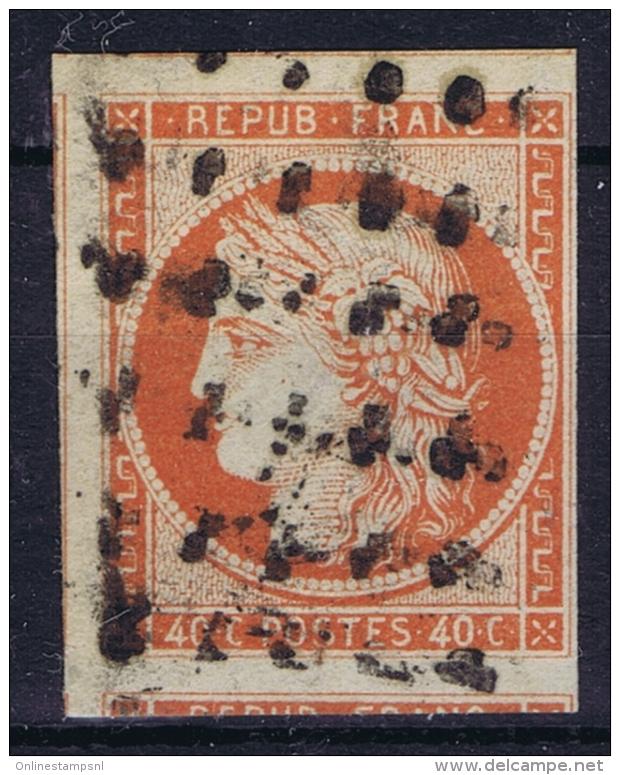 France: Yv Nr 5 A Obl./Gestempelt/used  Signed/ Signé/signiert Calves - 1849-1850 Ceres