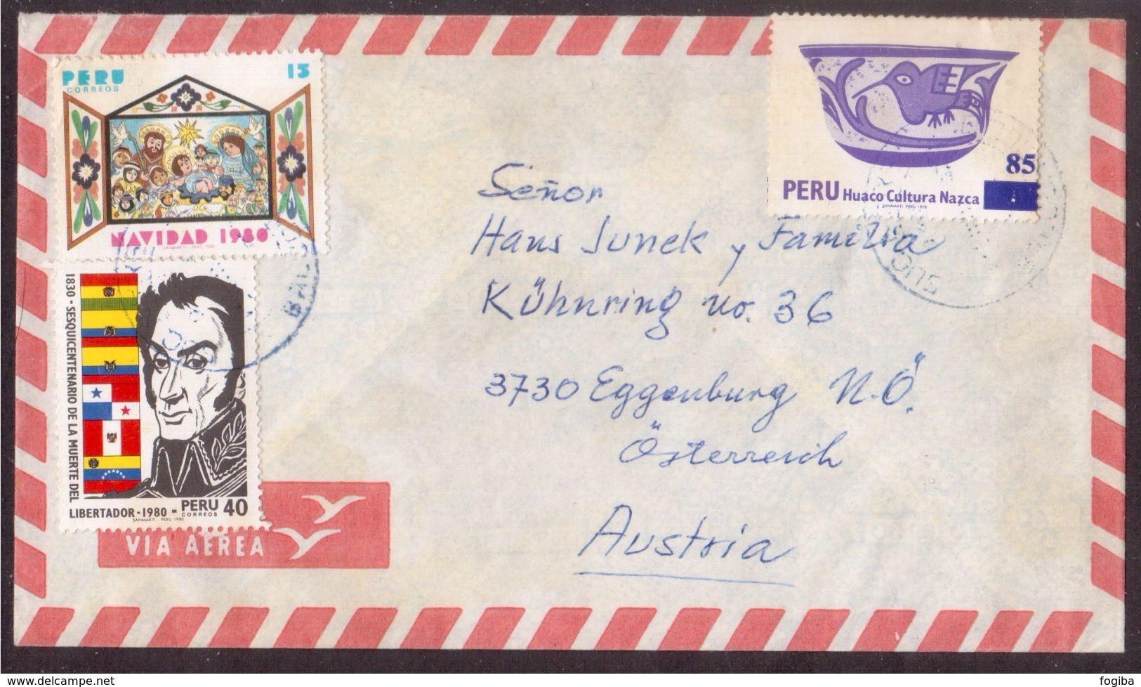 JZ94   Perù 198 - Airmail Cover Sent To Eggenburg Austria - Perù