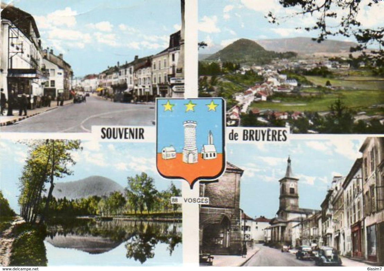 CPSM Dentelée - BRUYERES (88) - Carte Multi-Vues - Années 60 - Bruyeres