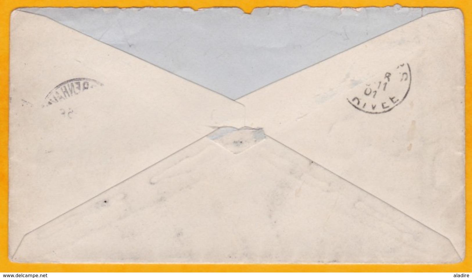 1901 - Enveloppe De Copenhague, Danemark Vers Anvers, Belgique  - Cad Arrivée - 1864-04 (Christian IX)