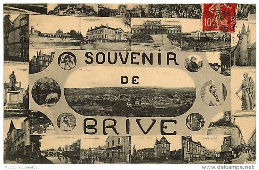 280917 - 19 BRIVE - Souvenir De - Multivues - Brive La Gaillarde