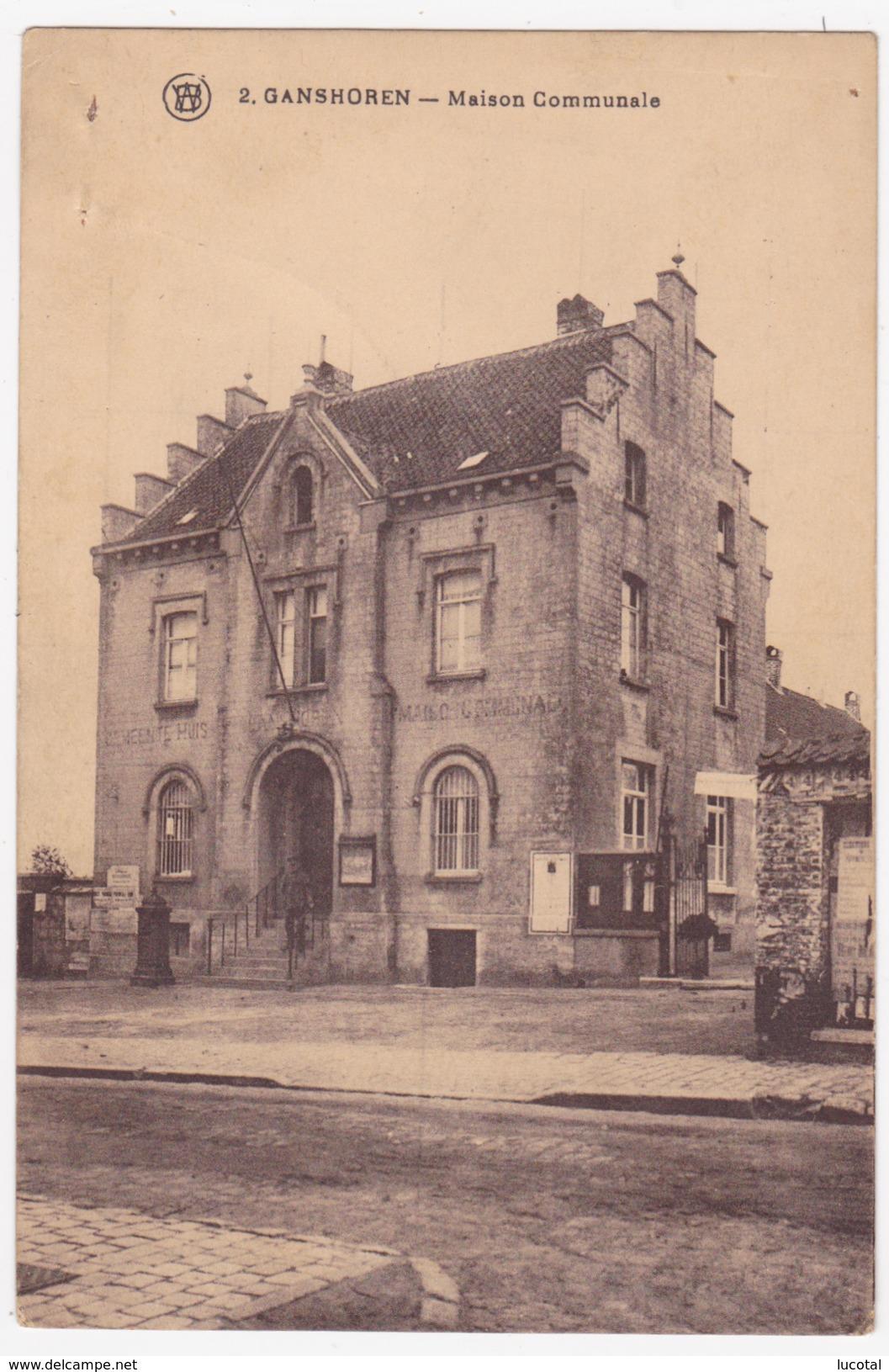 Bruxelles - Ganshoren - Maison Communale - Edit. F. Walschaerts N° 2 - Trous D' Agraffes, Voir Scans - Ganshoren