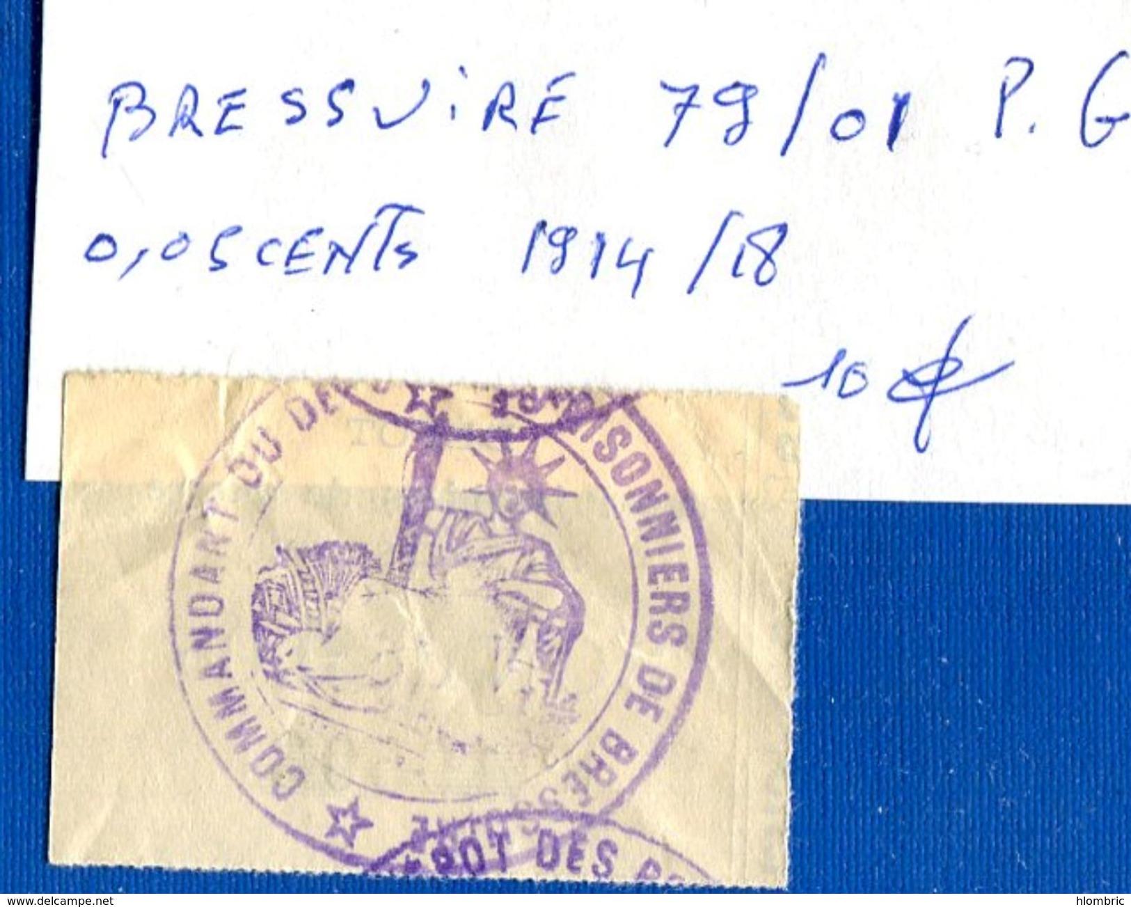 Bressuire  79/01  Pg  0.05  Cents  1914/18 - Bonds & Basic Needs