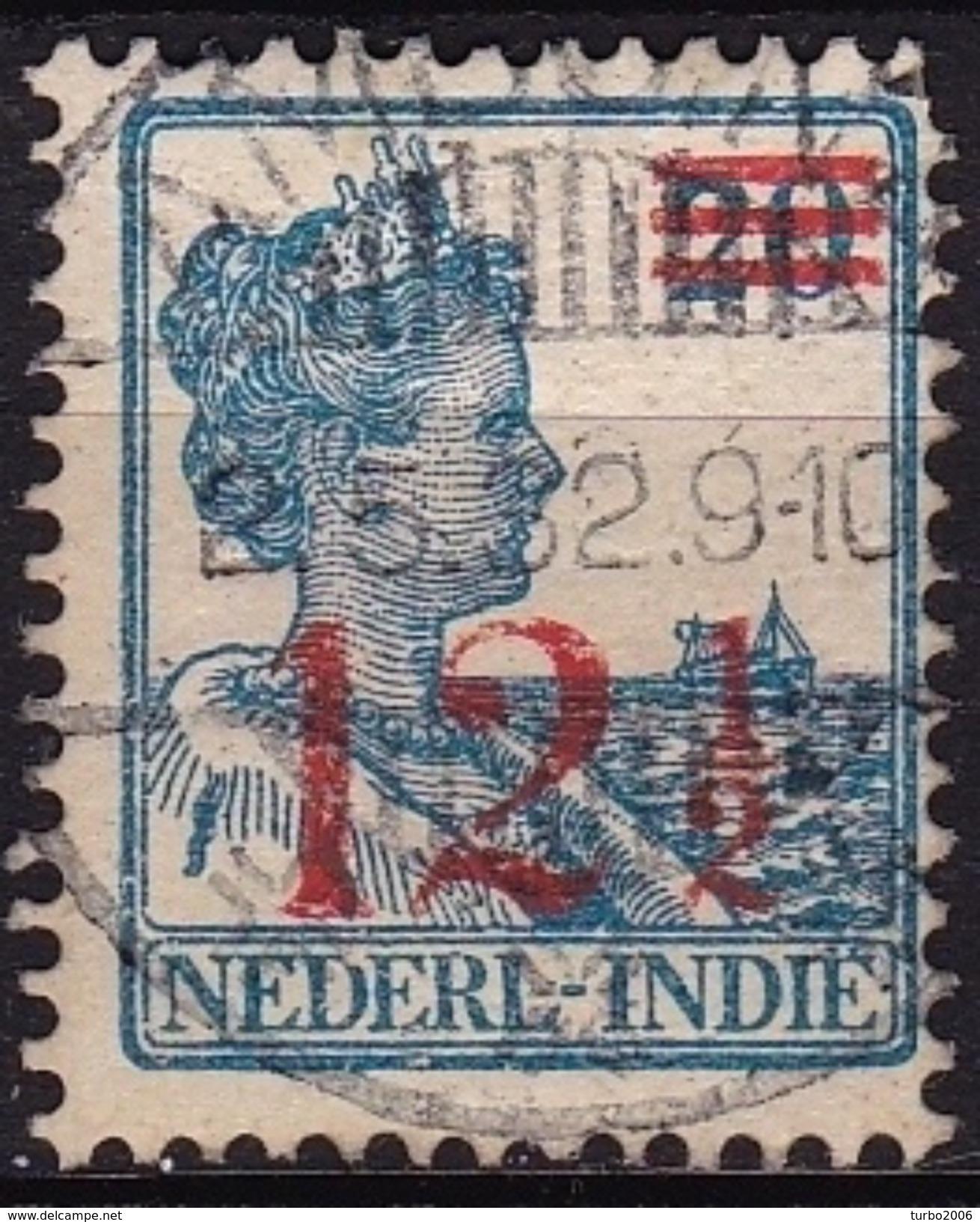 Ned. Indië: Langebalkstempel AMBOINA (13) Op 1930 Koningin Wilhelmina Hukpuitgifte 12½ / 20 Cent NVPH 171 - Indes Néerlandaises