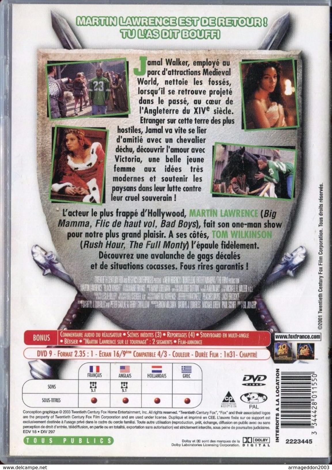 DVD LE CHEVALIER BLANC MARTIN LAWRENCE / 1H31 MINUTES - TBE - Cómedia