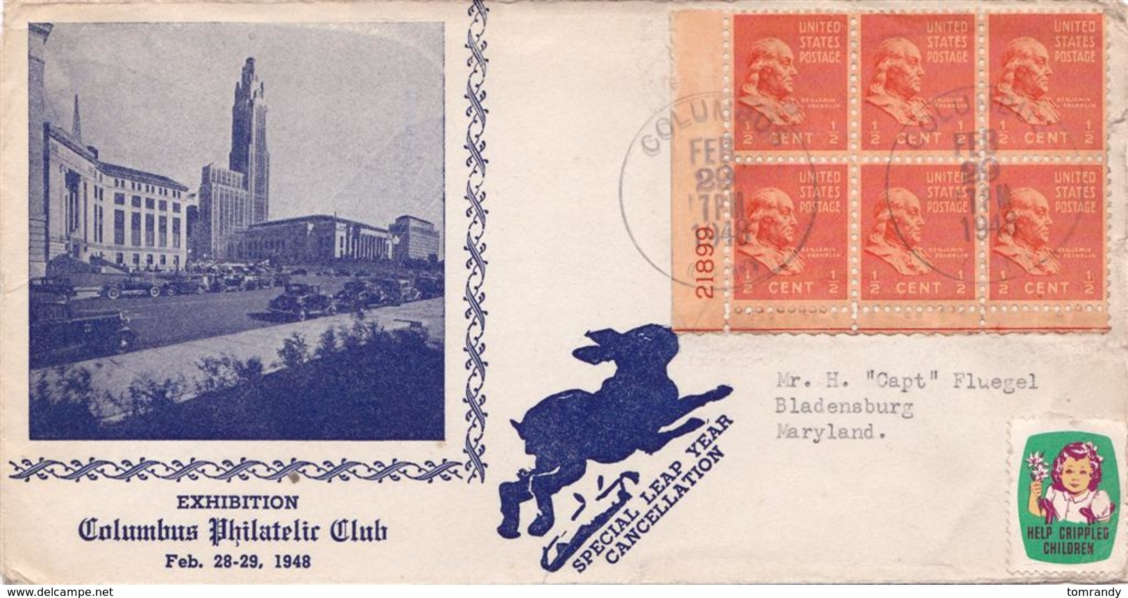 Columbus OHIO, Feb. 29, 1948, Schaltjahr/leap Year - Ganzsachen