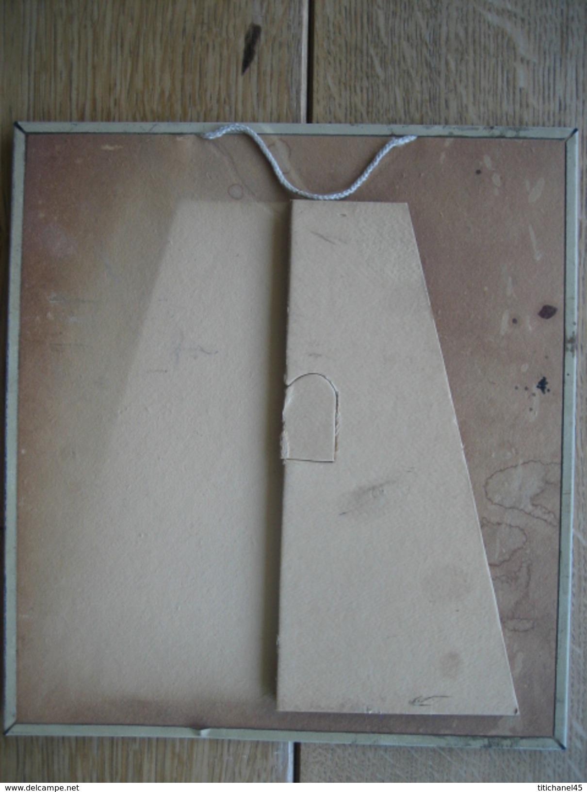 Très Belle Impression Lithographique Sur Tôle Du Parfum KOBAKO De BOURJOIS (années 30) - 22 X 24 Cm - Reclameplaten