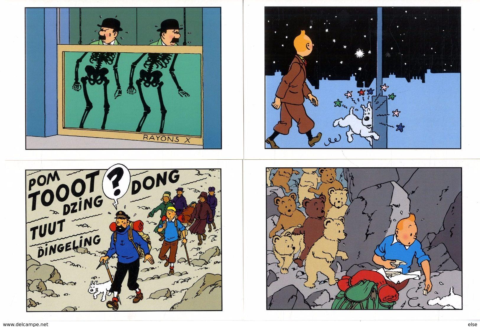 TINTIN  HERGE   -  LOT 10 CARTES  EDITIONS HERGE MOULINSART - Hergé