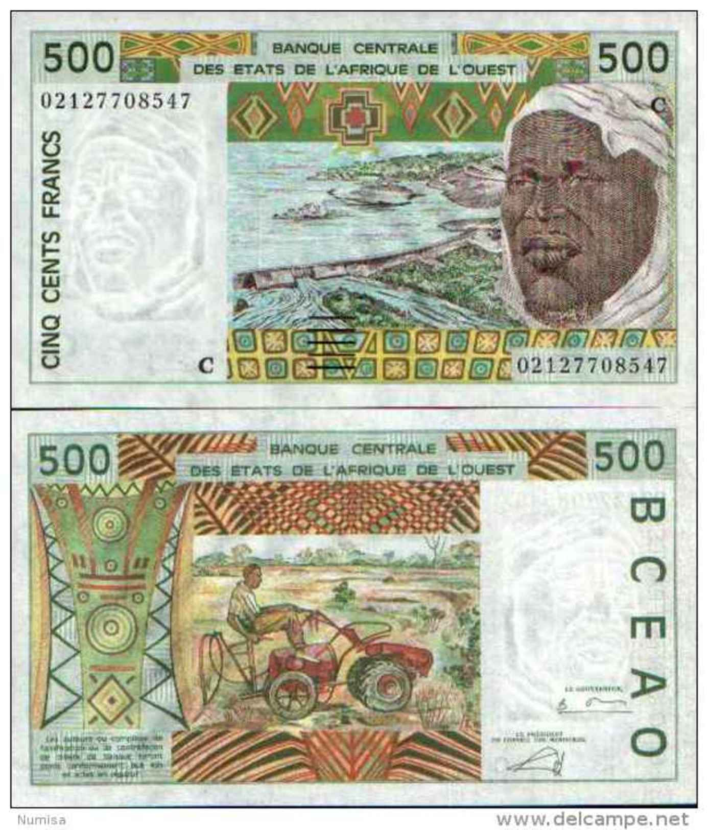 Burkina Faso 500 FRANCS (2002) Pick 310Cm - Burkina Faso