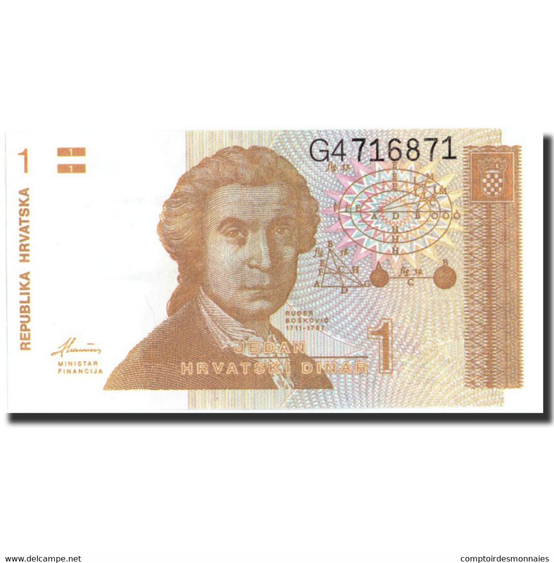 Croatie, 1 Dinar, 1991, 1991-10-06, KM:16a, SPL+ - Croatie