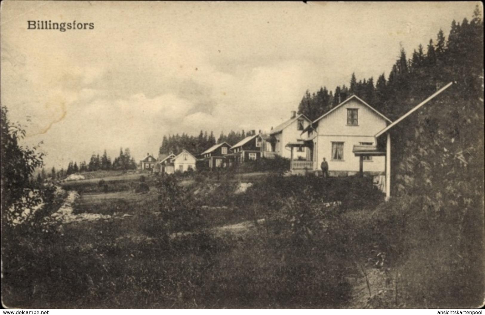 Cp Billingfors Schweden, Siedlung, Wohnhäuser - Suède