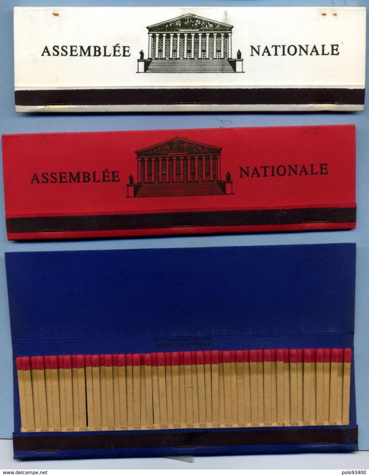 Lot De 3 Boites D'allumettes De L'Assemblée Nationale (Publicitaire : Publistip ) - Tabac (objets Liés)