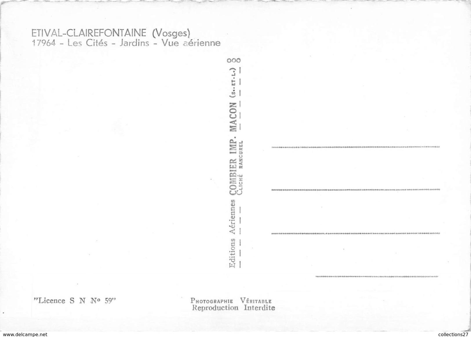 88-ETIVAL-CLAIREFONTAINE- LES CITES JARDINS , VUE AERIENNE - Etival Clairefontaine