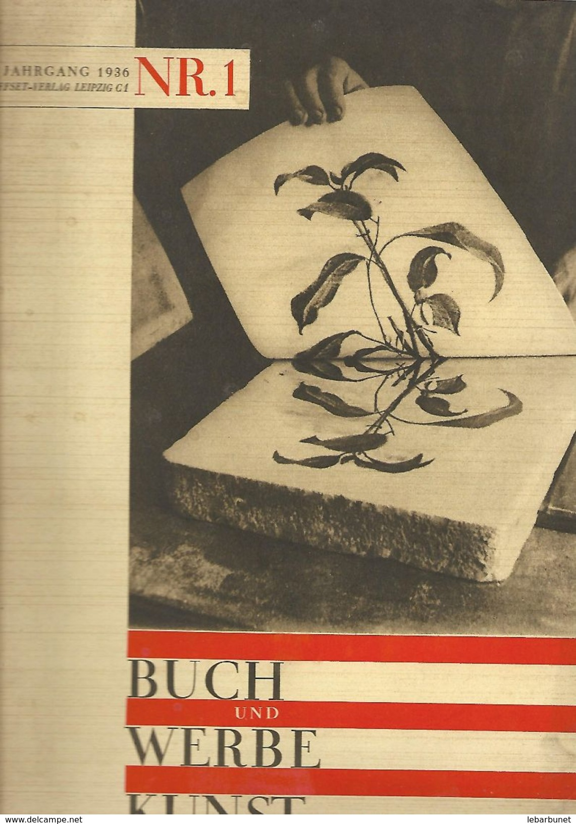 Buch Und Werbe Kunst  Jahrgang 1936 NR.1 - Catalogues