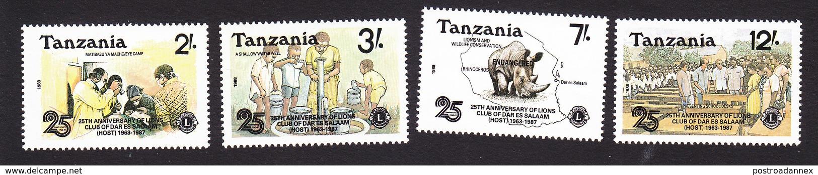 Tanzania, Scott #456-459, Mint Hinged, Int'l Red Cross, Issued 1988 - Tanzanie (1964-...)