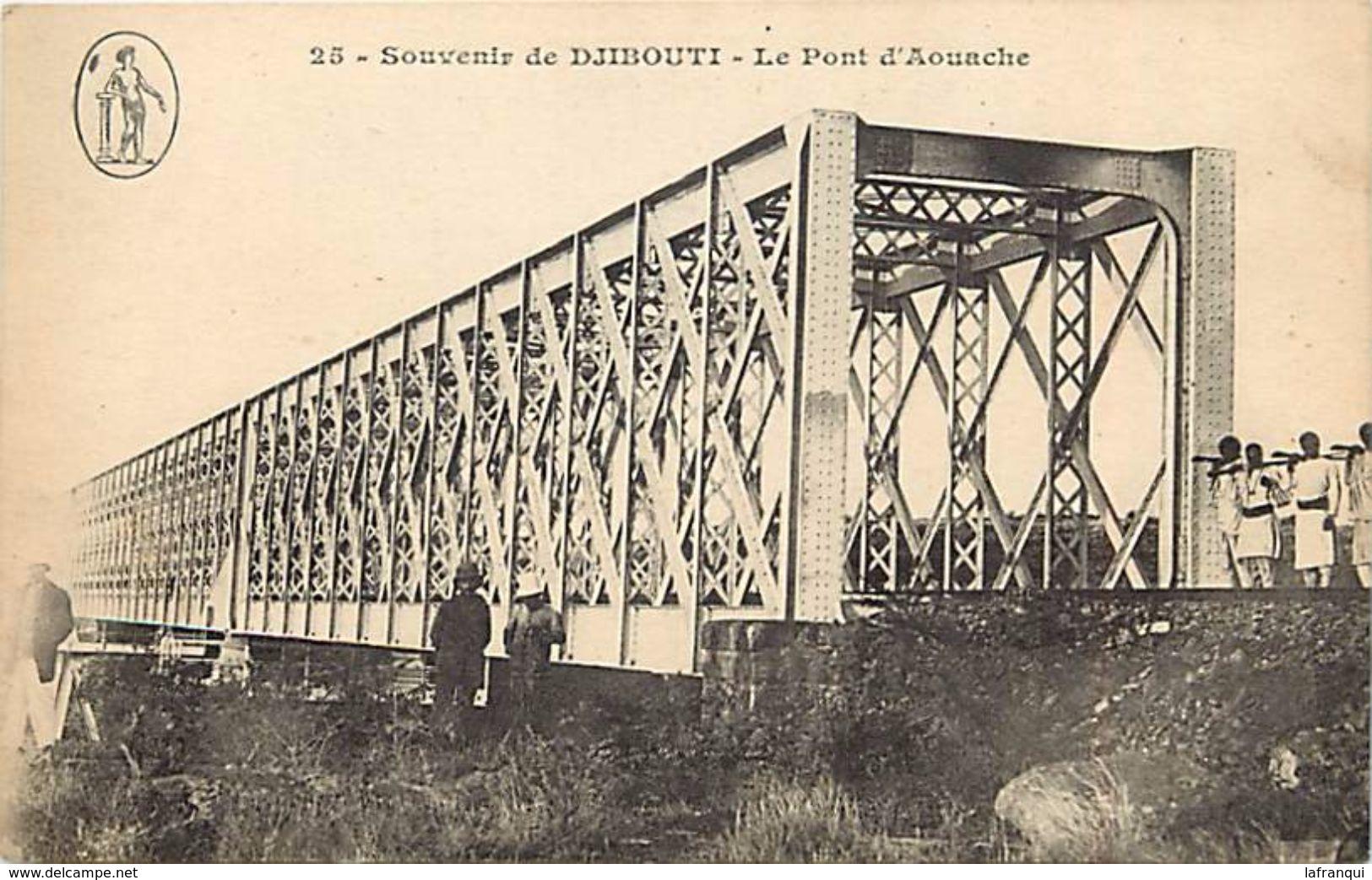 -ref V323- Souvenir De Djibouti - Le Pont D Aouache - Theme Ponts - Bridge - Bridges  - Carte Bon Etat - - Djibouti