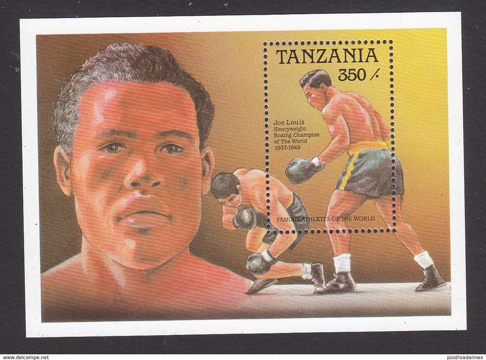Tanzania, Scott #496, Mint Never Hinged, Joe Louis, Boxer, Issued 1989 - Tanzanie (1964-...)