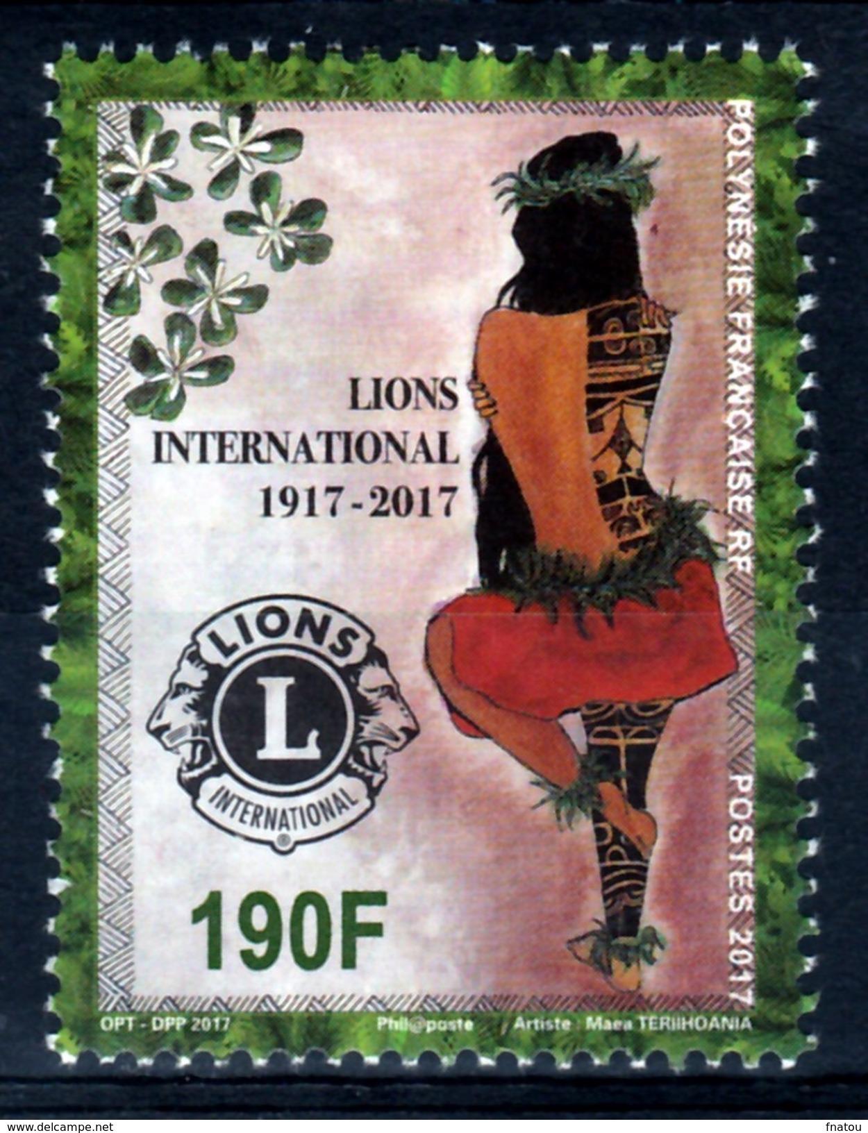 French Polynesia, Lions Club International, 2017, MNH VF - French Polynesia