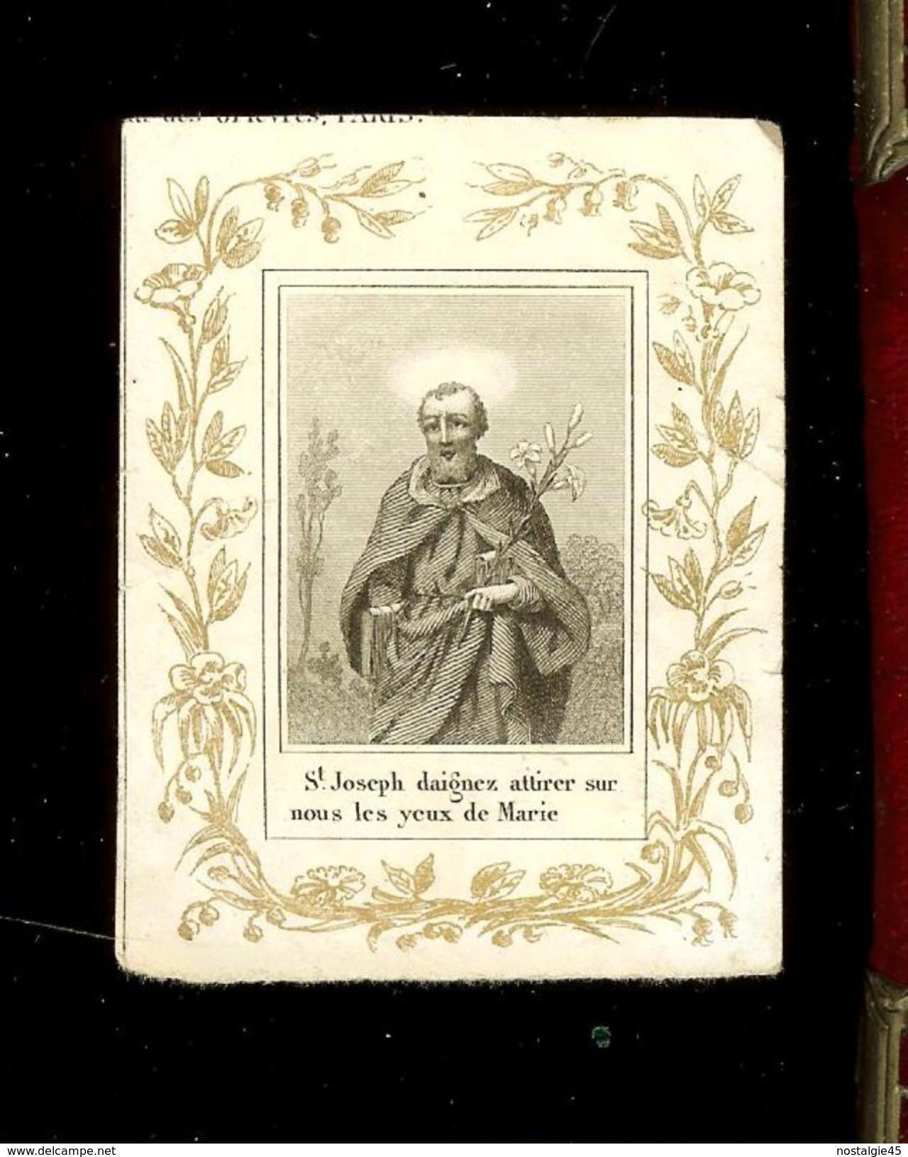 A.Felix Paris - Saint Joseph  Daignez Attirer Sur Nous Les Yeux De Marie - Andachtsbilder
