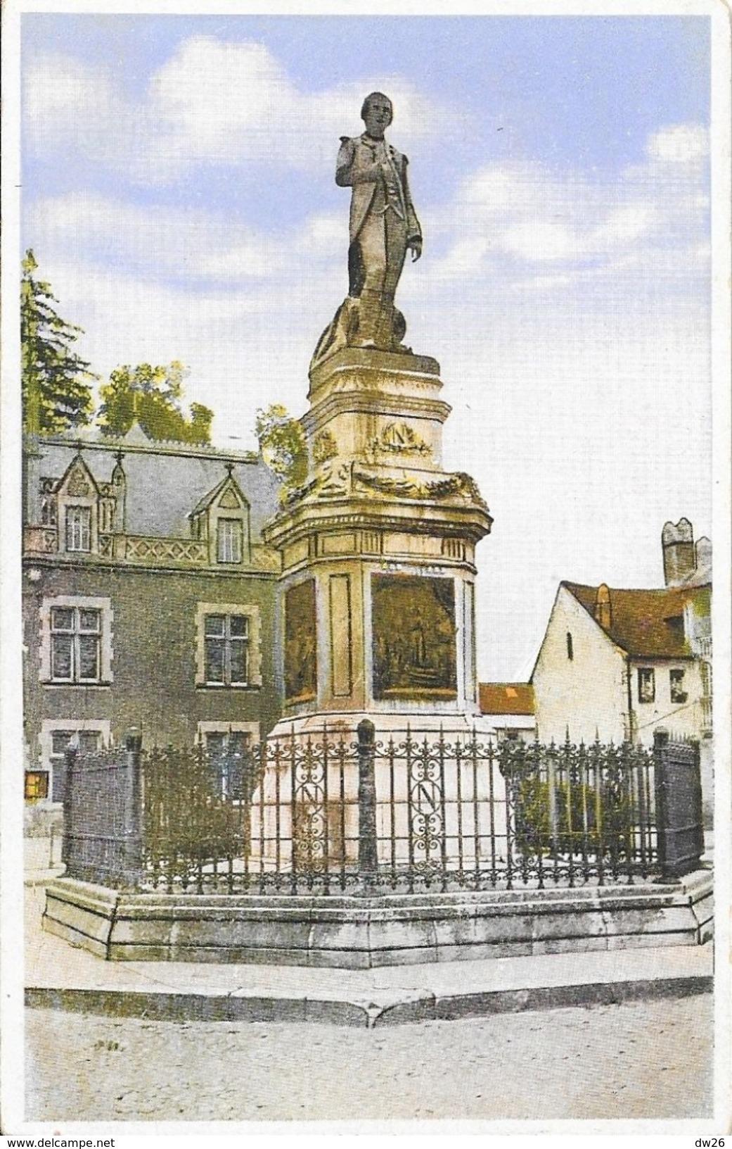 Auxonne (Côtes D'Or) - Statue De Napoléon 1er - Collection Perrin - Carte Combier Colorisée, Non Circulée - Auxonne
