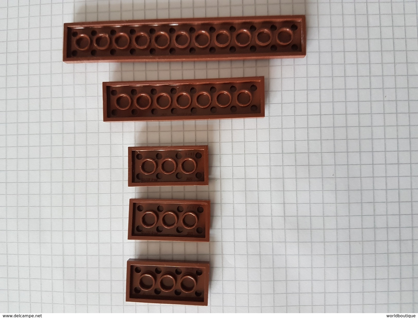 Lot Pièces Lego Brun - Lego