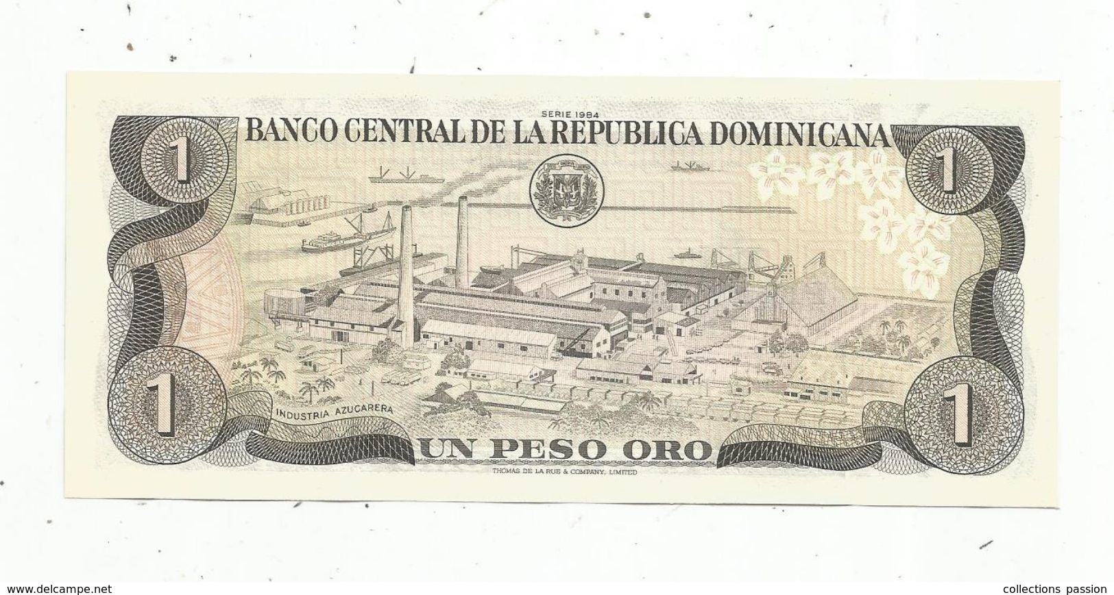 Billet Neuf  , Dominicaine, Republica Dominicana, 1 Peso Oro, UNC , Neuf - Dominicaine