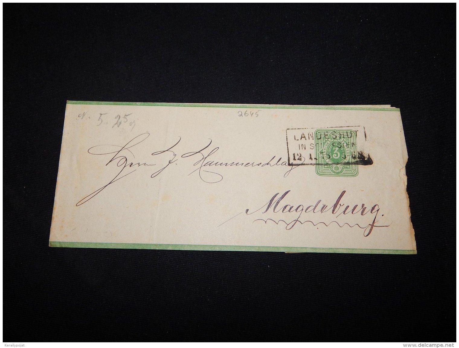 Germany 1878 Landeshut 3pf Green Wrapper__(L-2645) - Allemagne