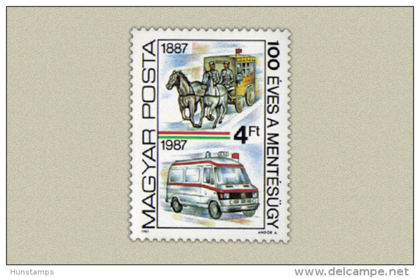Hungary 1987. Red Cross Stamp MNH (**) Michel: 3896 / 0.60 EUR - Ungarn