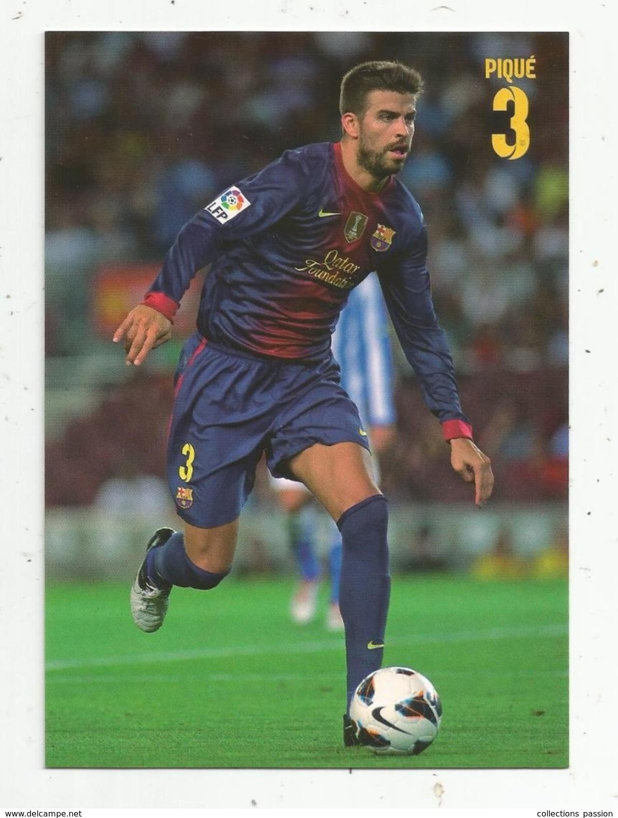 Cp , Sports , Football , Espagne ,  F.C. Barcelona , Joueur : Piqué , Vierge , Ed : Erik - Calcio