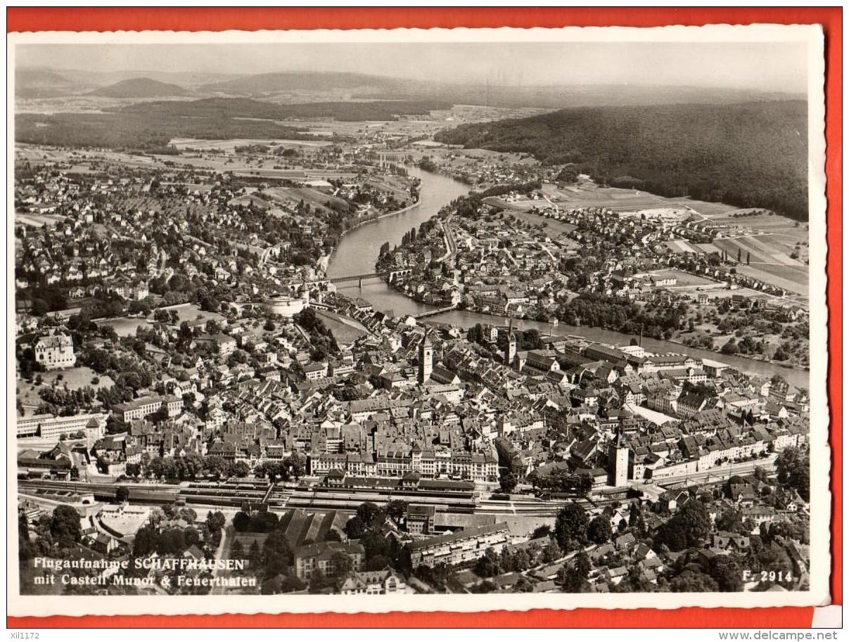 MIE-04  Schaffhausen Mit Castell Musot U. Feuerthafen. Gelaufen In 19t7 Gross Format - SH Schaffhouse