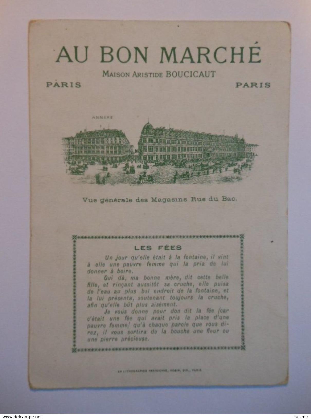 B0048b - Chromo AU BON MARCHE - 2 LES FEES - Vieux Papiers
