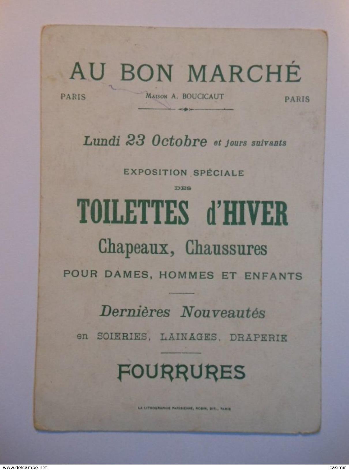 B0048c - Chromo AU BON MARCHE - 3 RIQUET A LA HOUPPE - Vieux Papiers