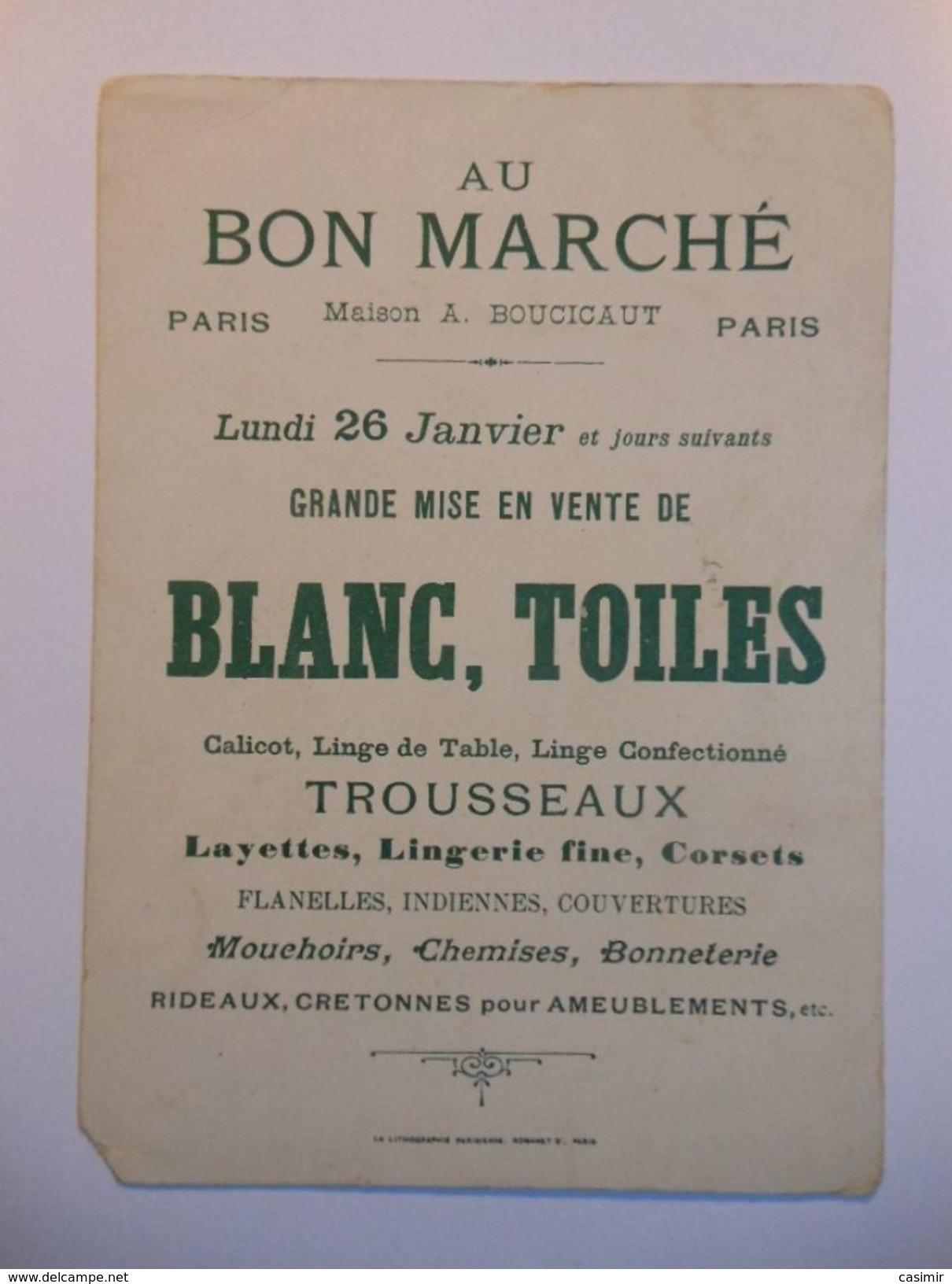 B0054b - Chromo AU BON MARCHE - 1 PEAU D'ANE - Vieux Papiers