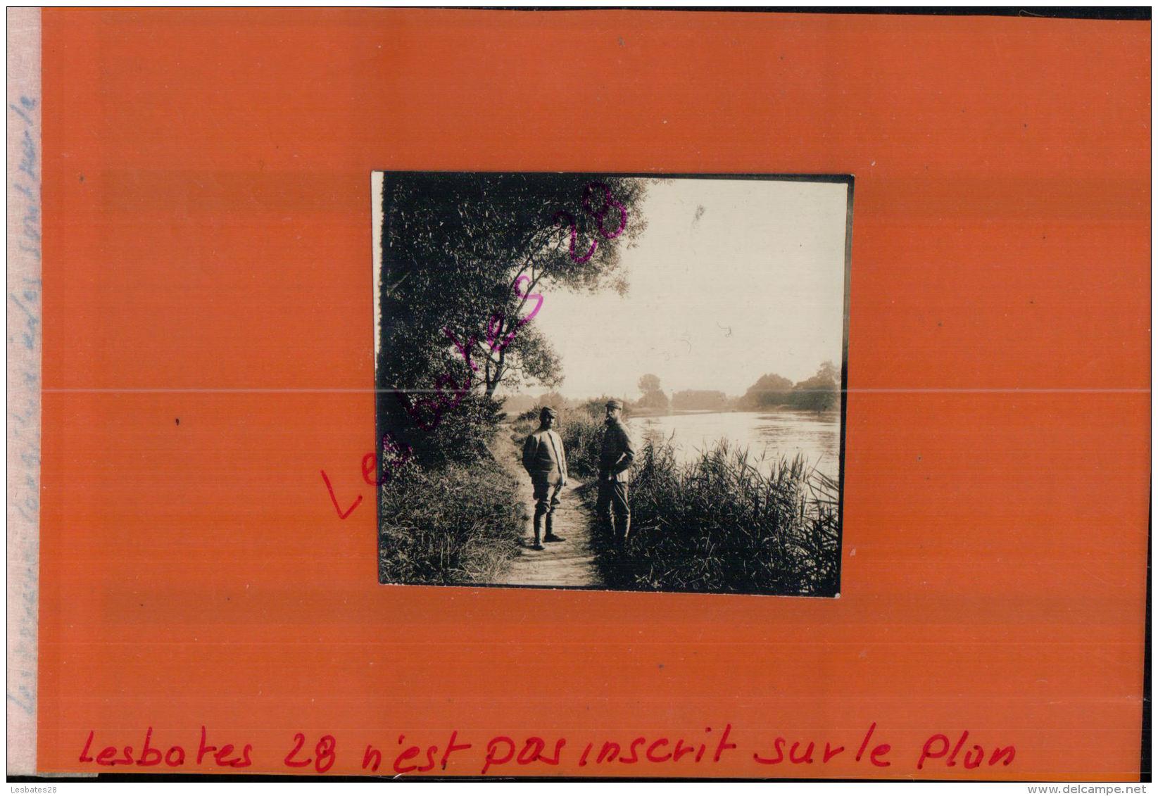 Photo Guerre 1914-18   Guerre 14-18- PHOTOS MILITAIRES CHEMIN BORDURE  FLEUVE SEPT 2017  345 - Guerre, Militaire