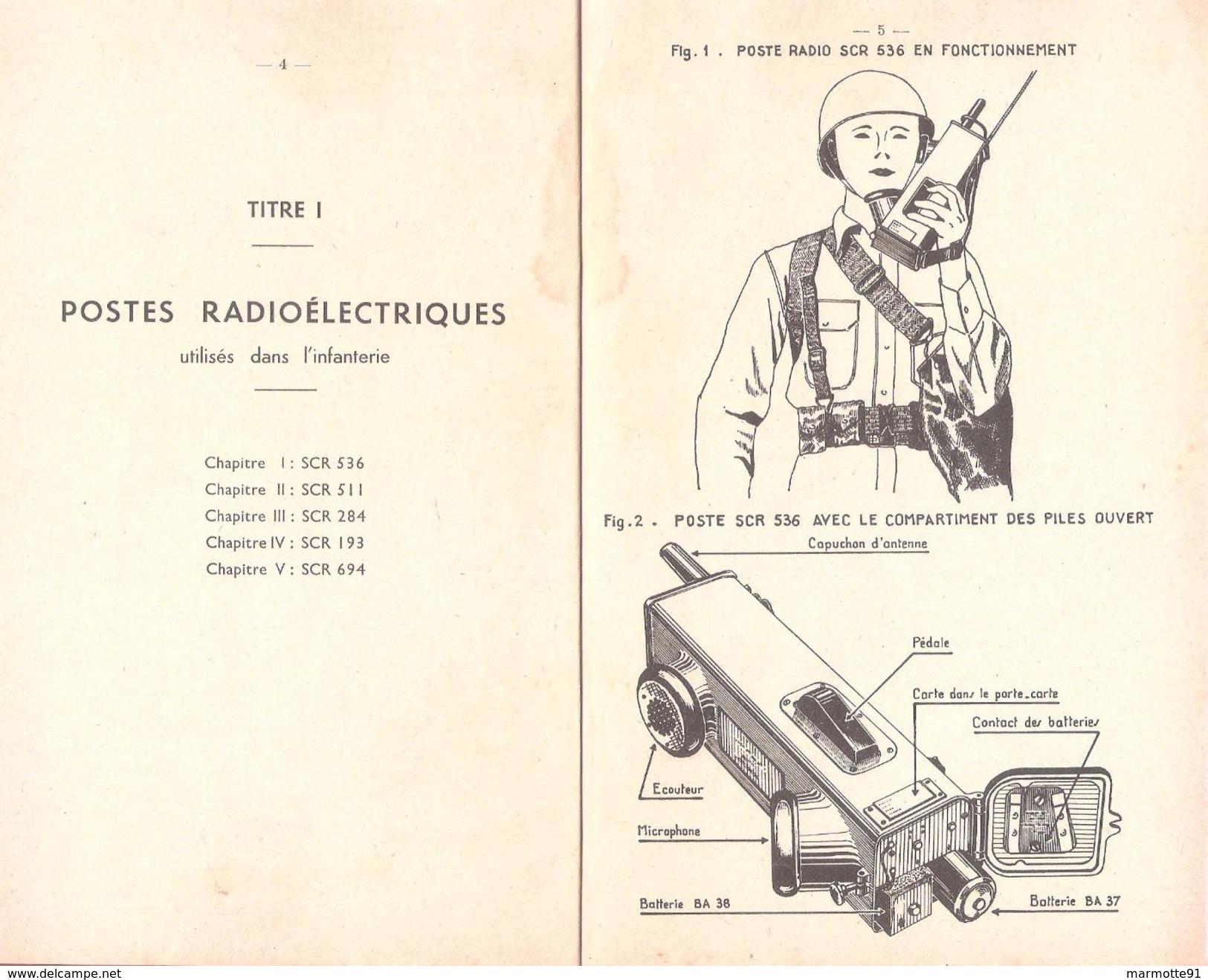 MANUEL EMPLOI POSTES RADIOELECTRIQUES US ARMY 1947 TRANSMISSIONS SCR POSTE RADIO - Radio