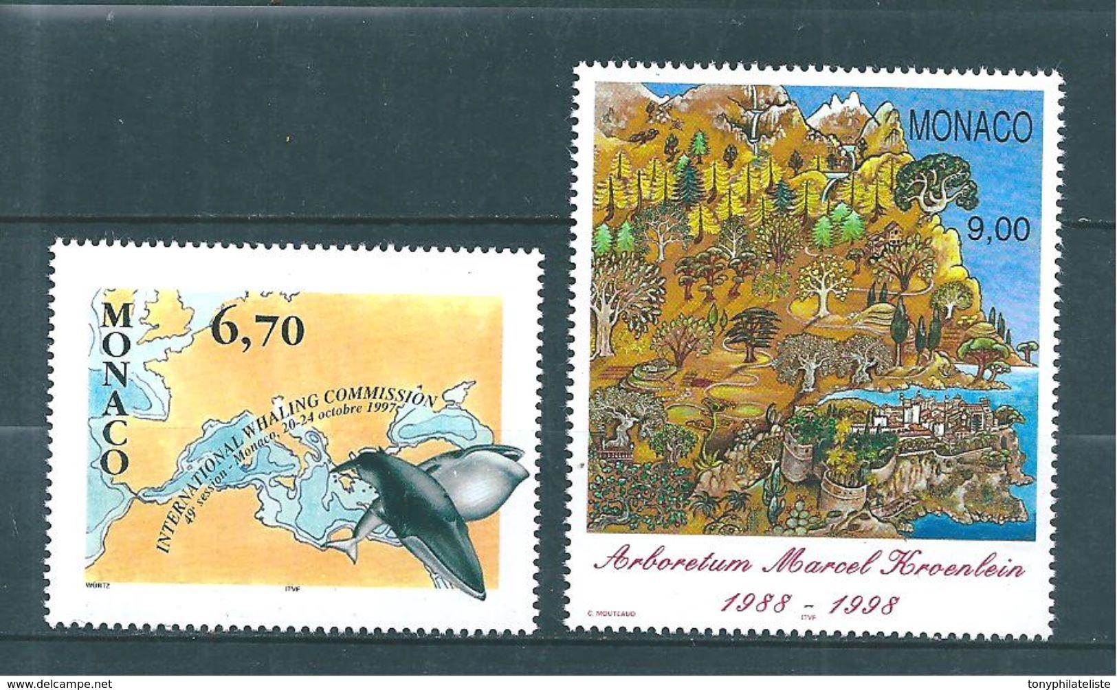 Monaco Timbres  De 1997  N°2133  Et  2134   Neufs ** Parfait - Monaco