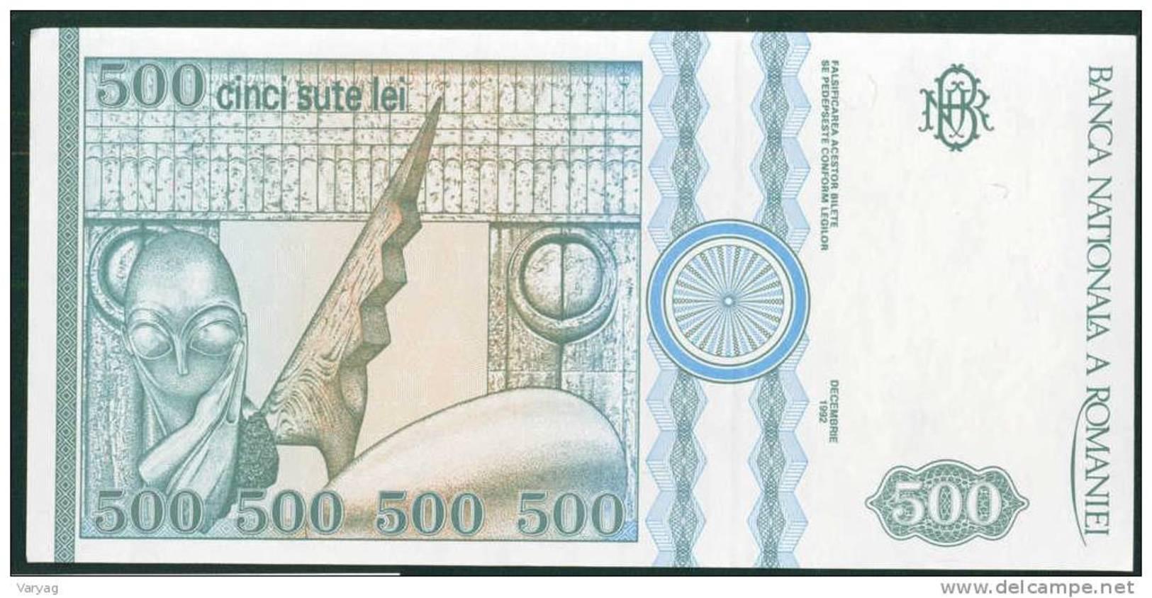 Romania 500 Lei 1992 UNC P101b - Rumania