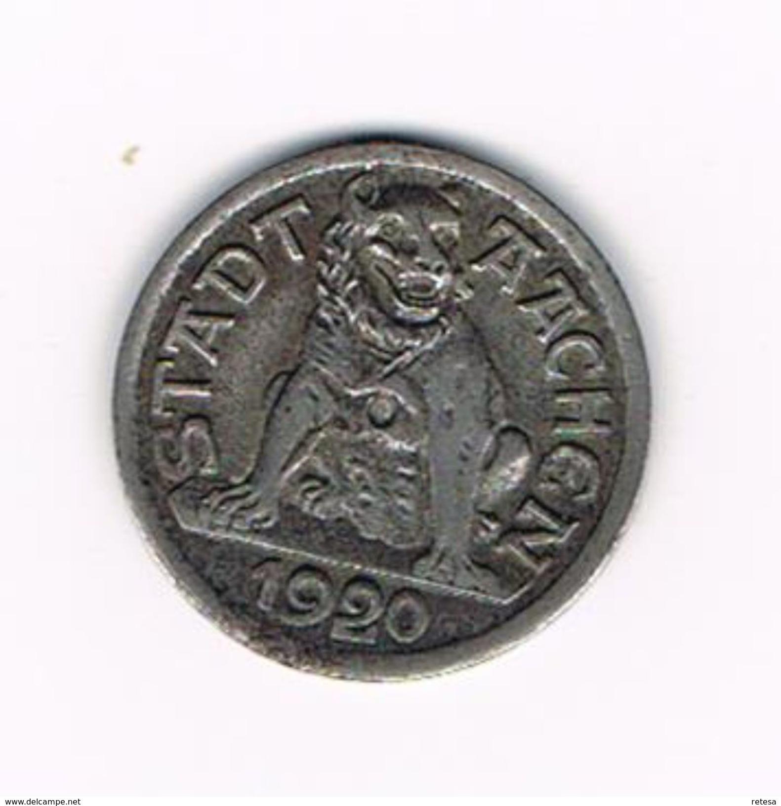 ) STADT AACHEN 1920  10 PFENNIG  NOTZMUNZE - Monétaires/De Nécessité