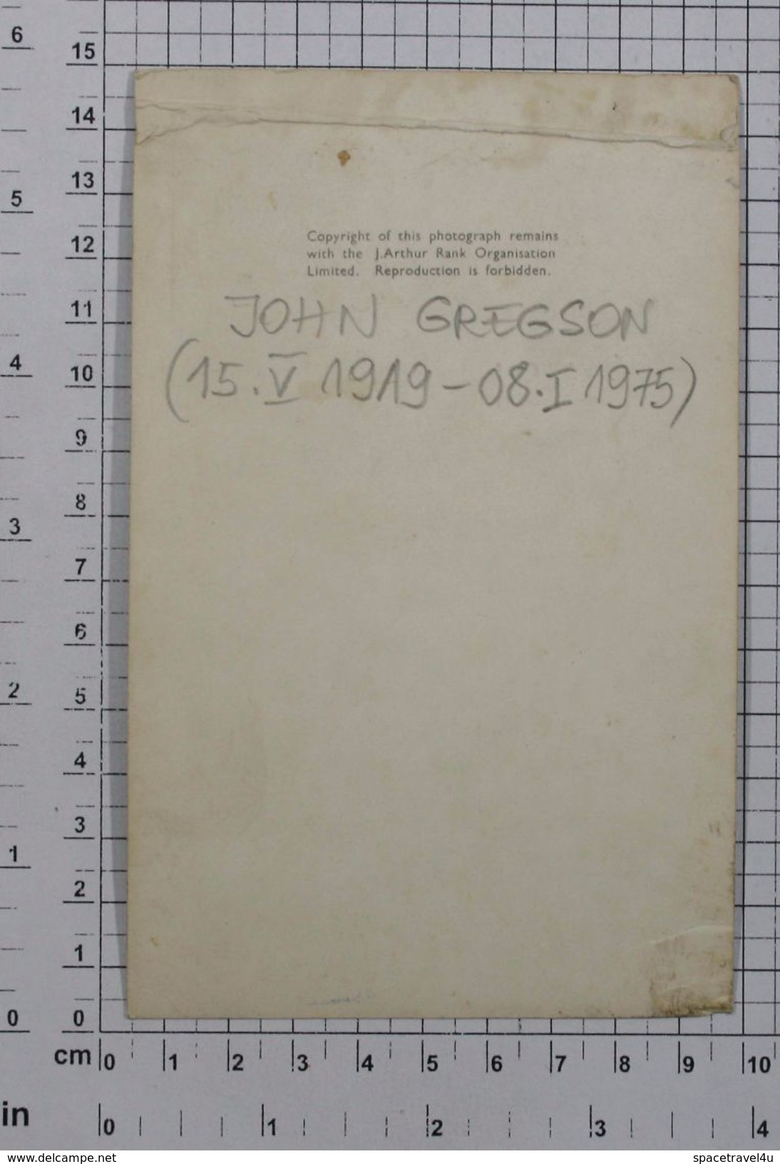 JOHN GREGSON - Vintage PHOTO Autograph REPRINT (AT-31) - Reproductions