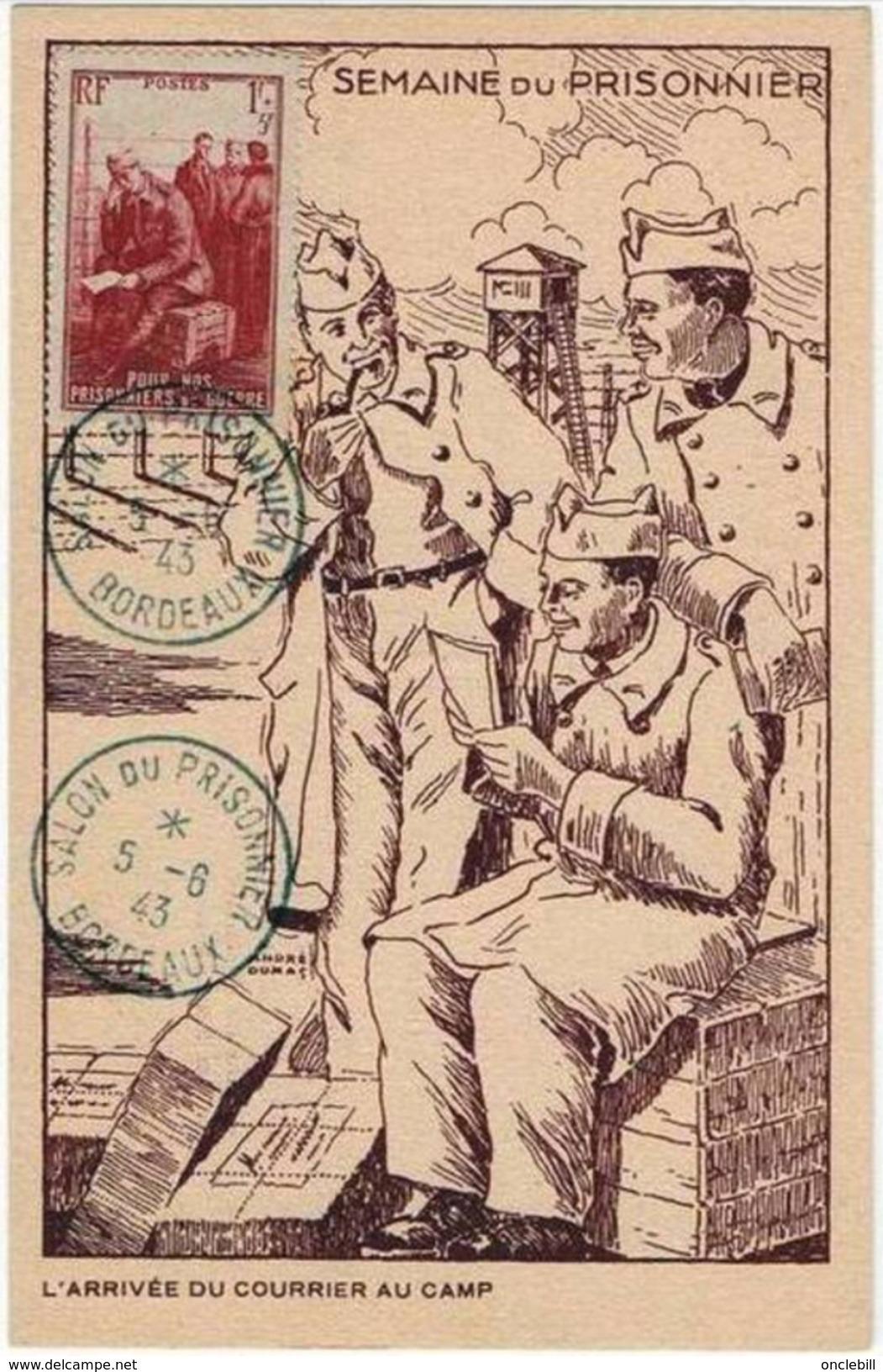 Bordeaux Gironde Salon Prisonnier Guerre 1943 Stalag Mirador TOP+++ état Superbe - Guerre 1939-45