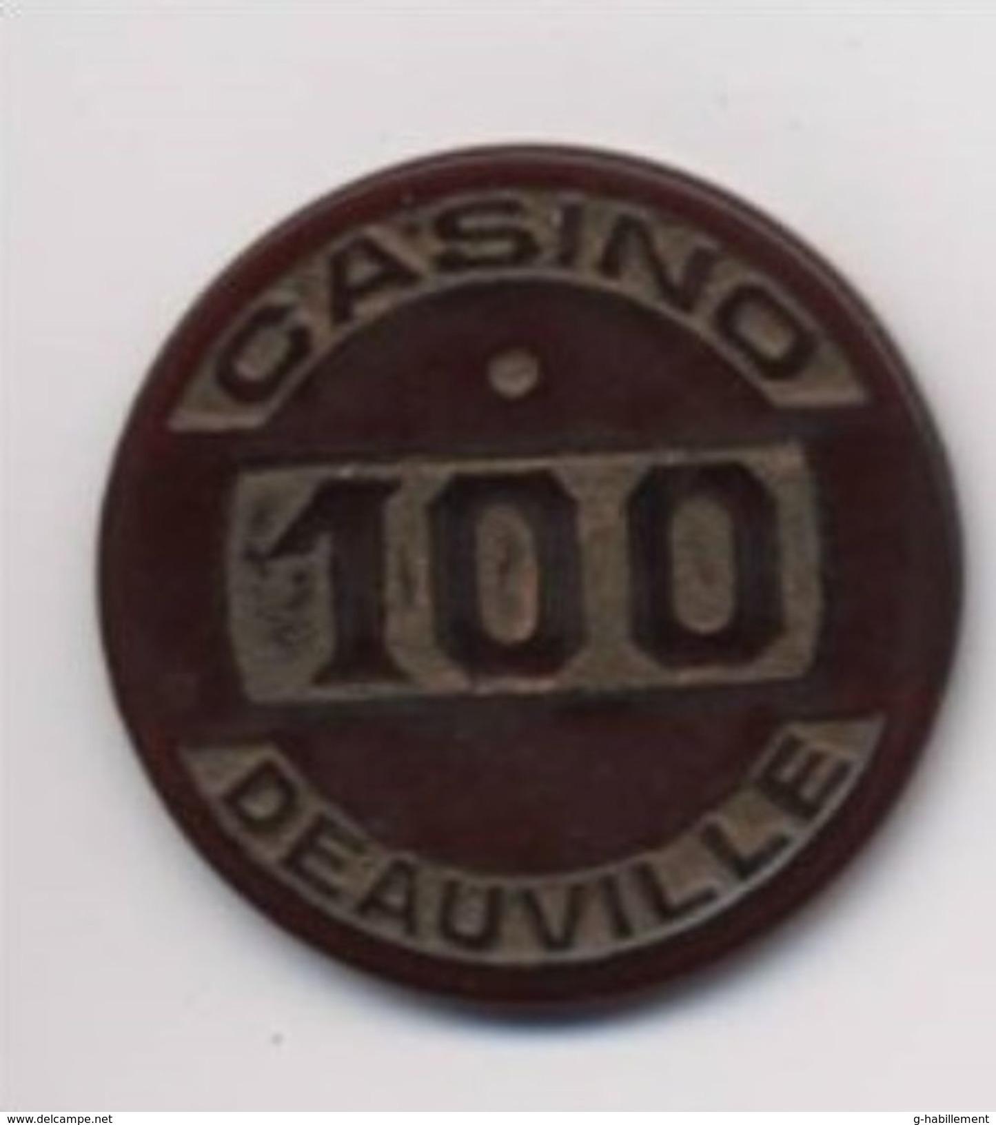 Jeton De Casino De Deauville 100 Fr - Casino