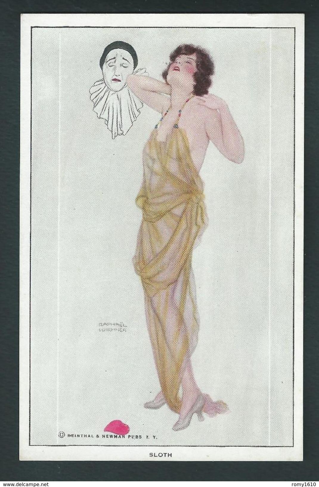 """Kirchner R.SERIE COMPLETE 10 Cartes. """" Les Amours De Pierrot"""" Scans Dans L'ordre, Recto/verso - Voir Cat. Dell'Aquila. - Kirchner, Raphael"""