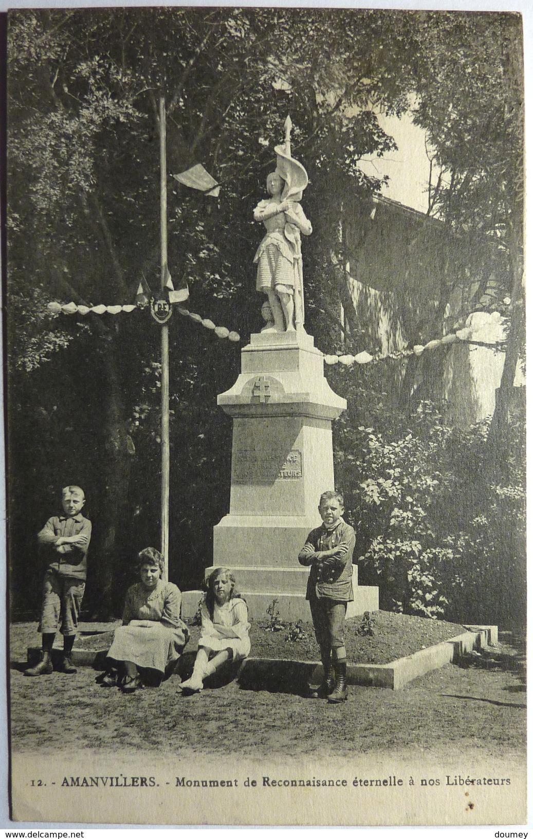 MONUMENT DE LA RECONNAISSANCE ÉTERNELLE A NOS LIBÉRATEURS - AMANVILLERS - Otros Municipios