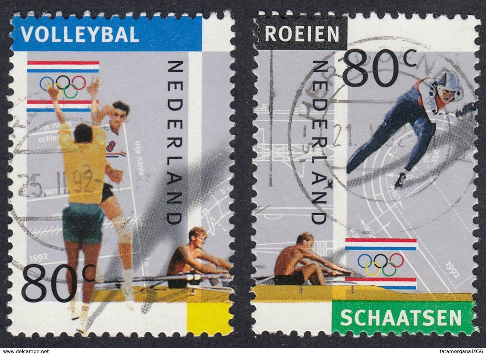 NEDERLAND - PAYS BAS -  OLANDA - 1992 - Lotto Due Valori Usati: Yvert 1393 E 1395, Usati. - Norwegen