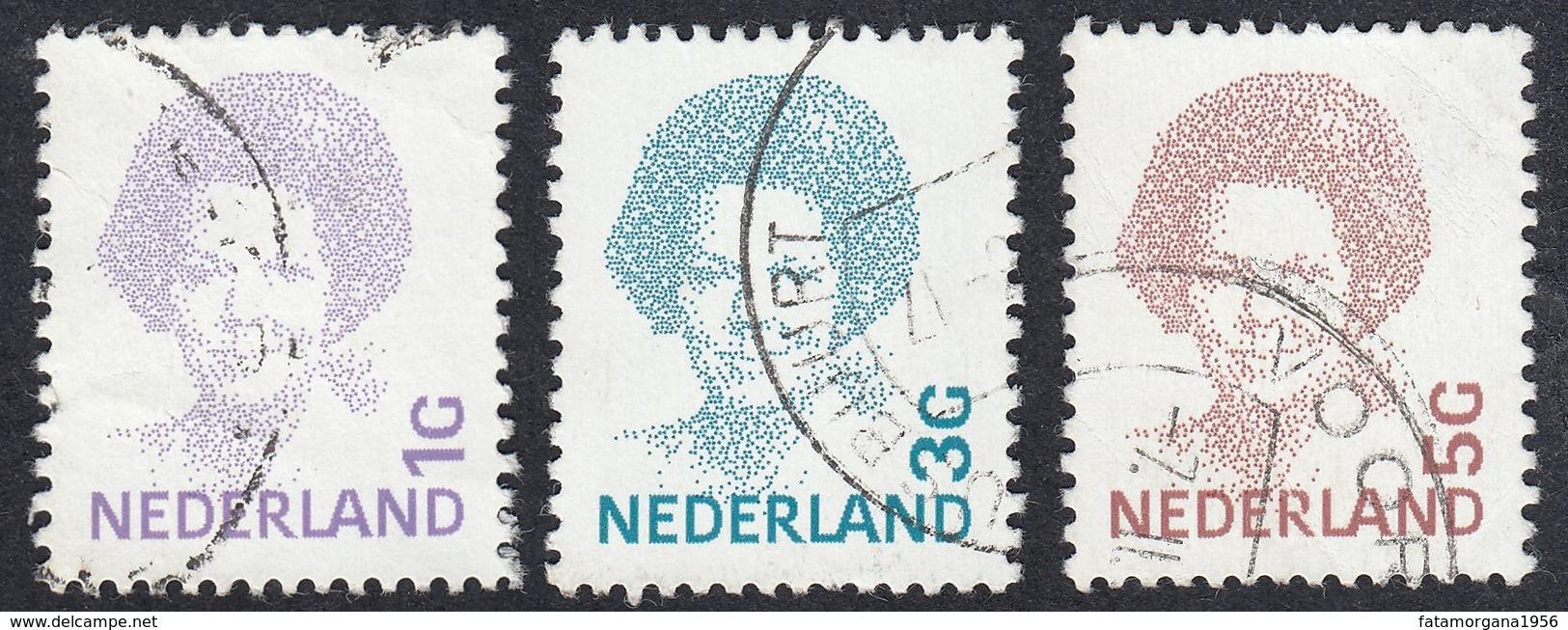 NEDERLAND - PAYS BAS -  OLANDA - 1992 - Lotto 3 Valori Usati: Yvert 1415, 1417 E 1418. - Gebraucht