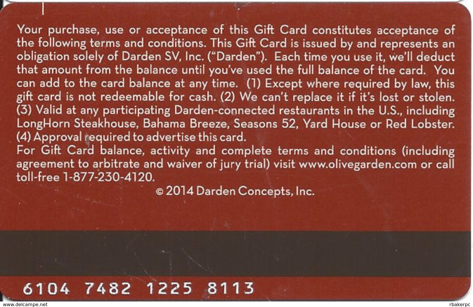 Olive Garden Gift Card - Gift Cards