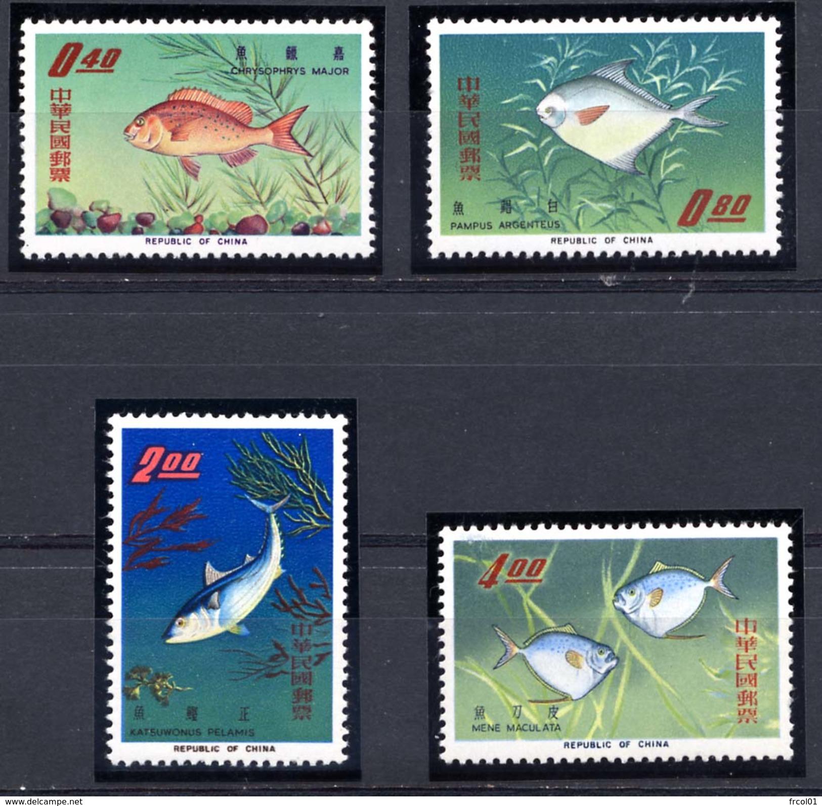 Taiwan (Formose), Yvert 518/521, Scott 1454/1457, MNH - 1945-... République De Chine
