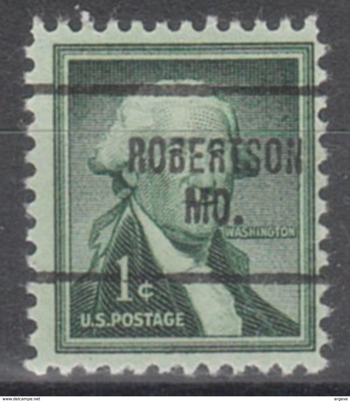 USA Precancel Vorausentwertung Preo, Locals Missouri, Robertson 704 - Vereinigte Staaten