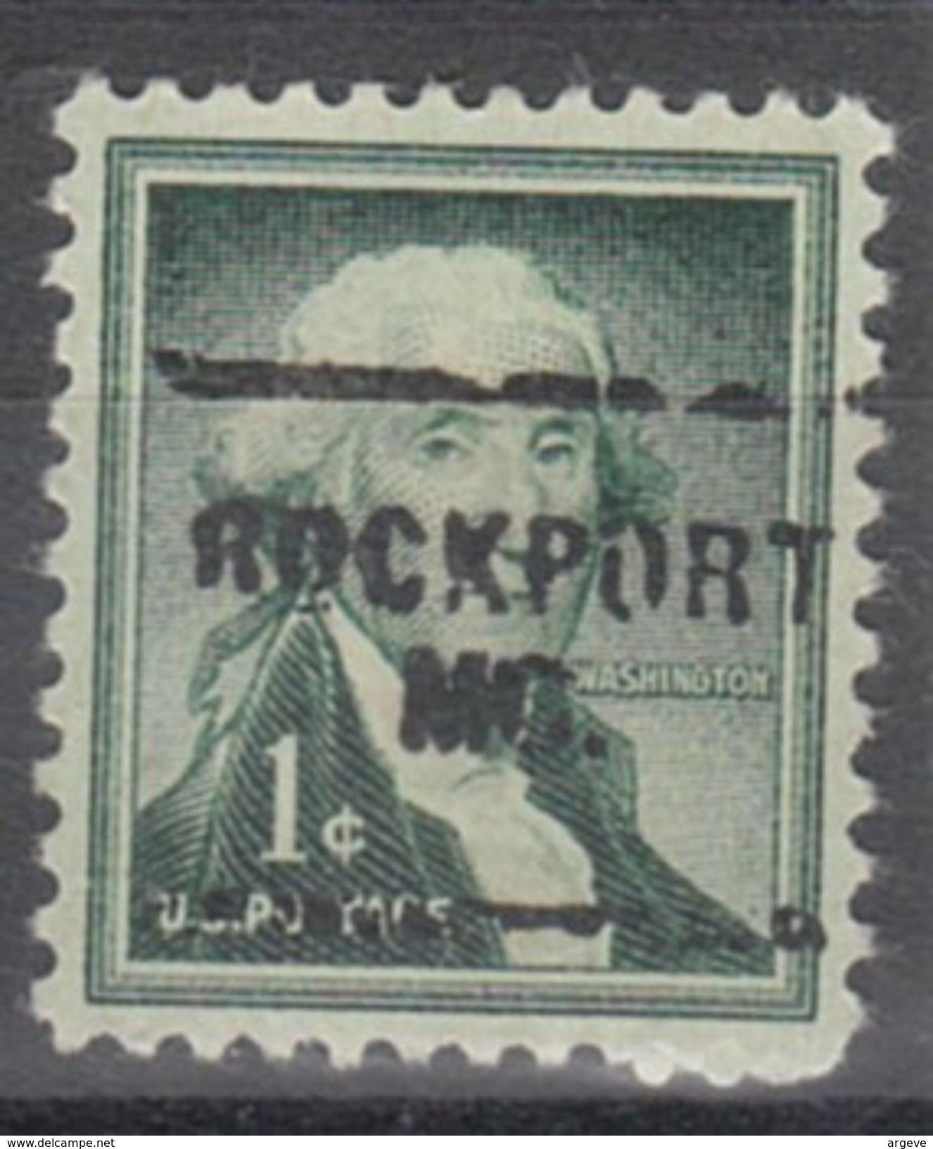 USA Precancel Vorausentwertung Preo, Locals Missouri, Rockport 703 - Vereinigte Staaten